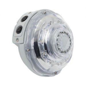 Intex LED sfeerverlichting voor PureSpa Jet & Bubble Deluxe - Met de Intex PureSpa multi-collor LED verlichting creëer je de perfectie sfeer en ambiance om optimaal te kunnen ontspannen en relaxen in jouw PureSpa Jet & Bubble.De speciale onderwater LED lamp kun je vast monteren in de PureSpa Jet & Bubble en schroef je vast op de bovenste uitlaatrooster van de spa.De PureSpa LED verlichting heeft verschillende verlichtingsmodi