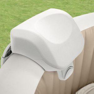 Intex premium spa hoofdsteun - Het Intex premium hoofdkussen biedt maximum comfort tijdens het relaxen in jouw Intex PureSpa bubbelbad.Het hoofdkussen is ergnomisch gevormd en is gemaakt van zacht polyurethaan foam. Het premium hoofdkussen biedt ondersteuning aan de nek en het hoofd tijdens het relaxen